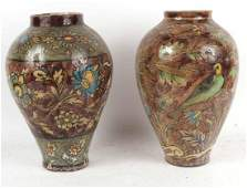 Two Chinese Glazed Ceramic Vase