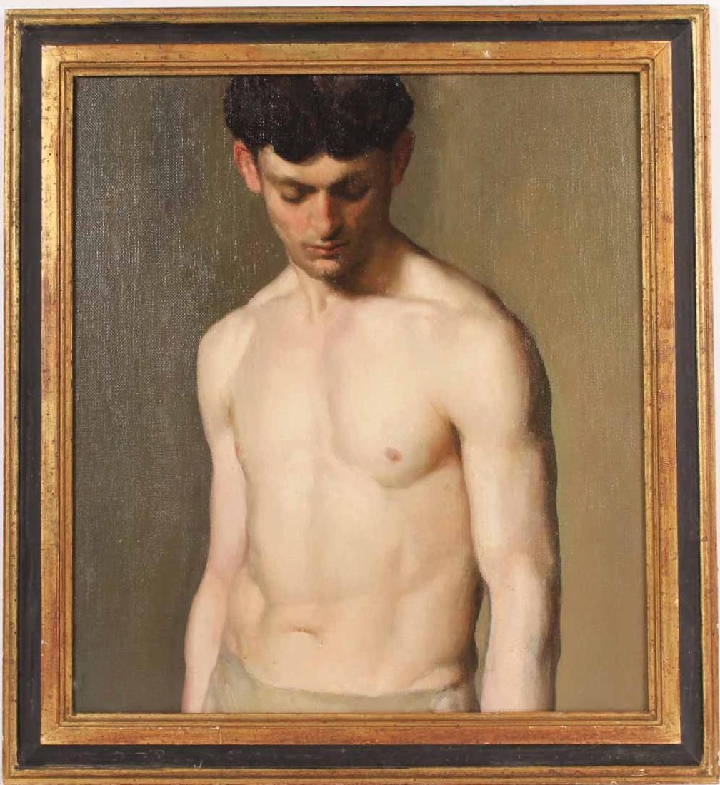 Oil on Canvas on Board, Nude Study
