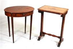 Federal Inlaid Mahogany Oval Side Table