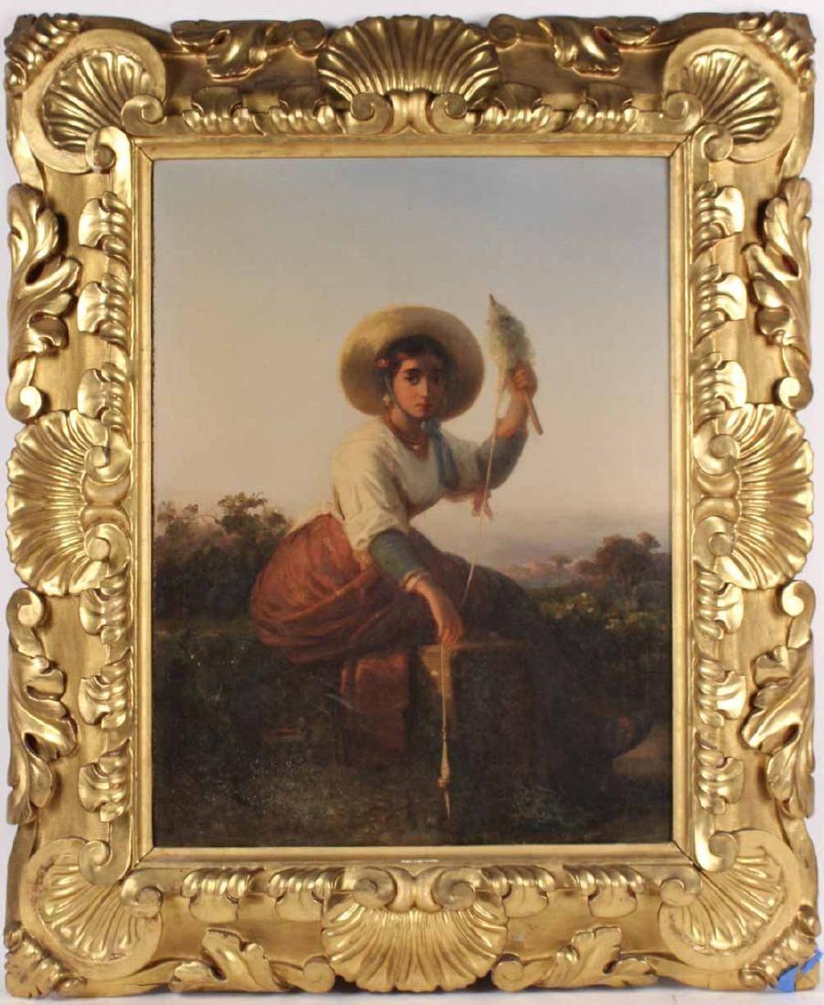 Oil on Canvas, Girl, Karl August Bielchowski
