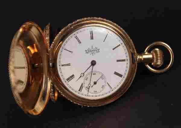 Elgin 14K Yellow Gold Hunter Case Pocket Watch