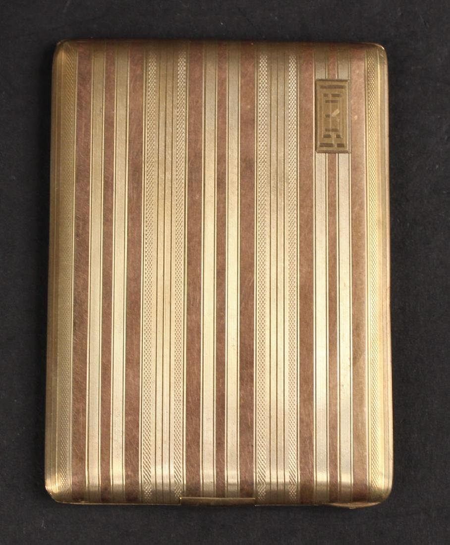 14K Yellow Gold & Rose Gold Cigarette Case