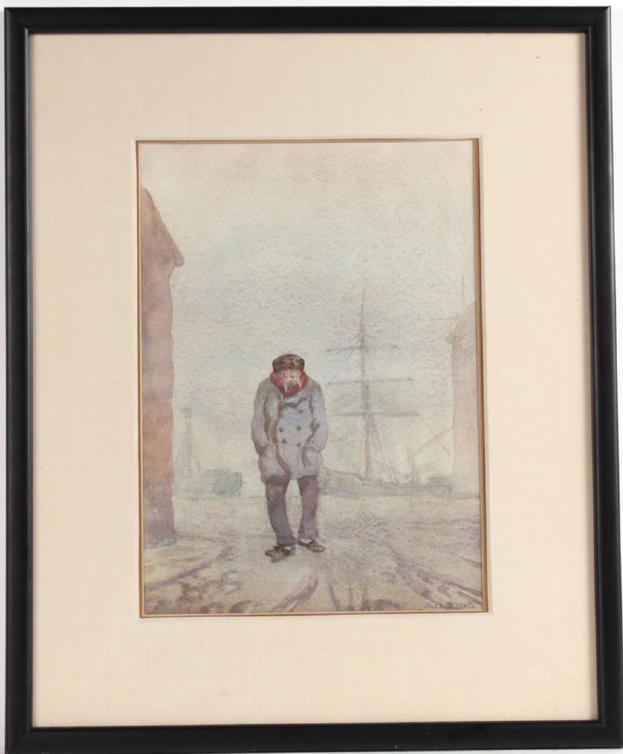 Watercolor, Mariner, Jack Butler Yeats