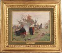 Oil on Canvas, French Soldiers, Paul LN Grolleron