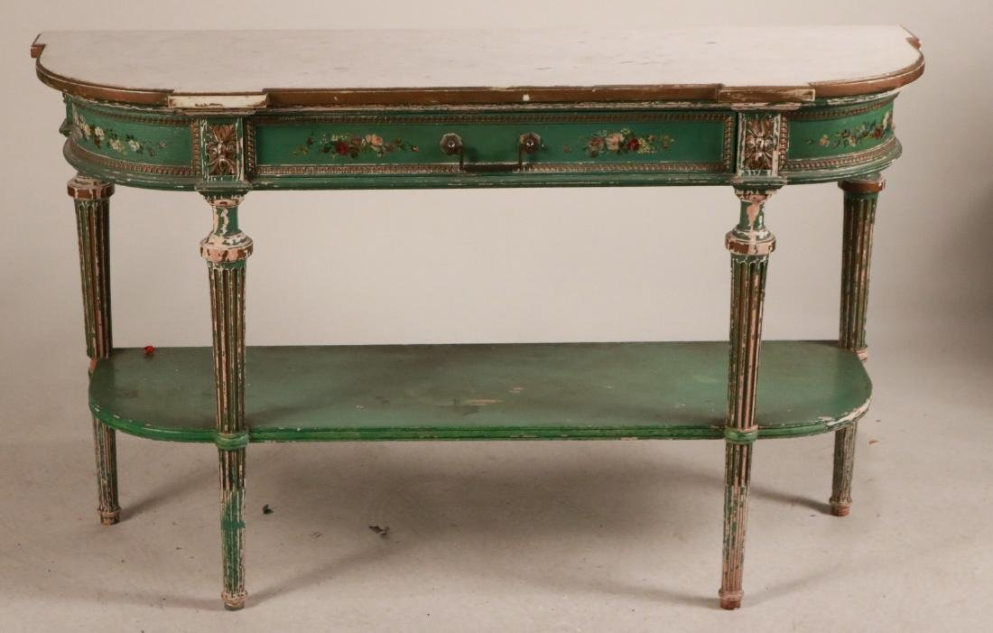 Louis XVI Style Paint-Decorated Console Table