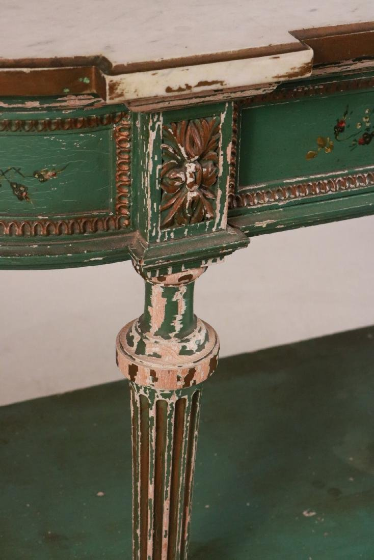 Louis XVI Style Paint-Decorated Console Table - 2