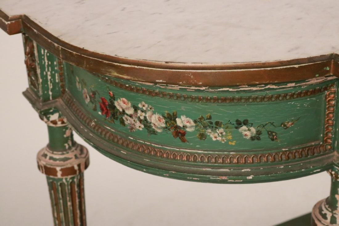 Louis XVI Style Paint-Decorated Console Table - 4