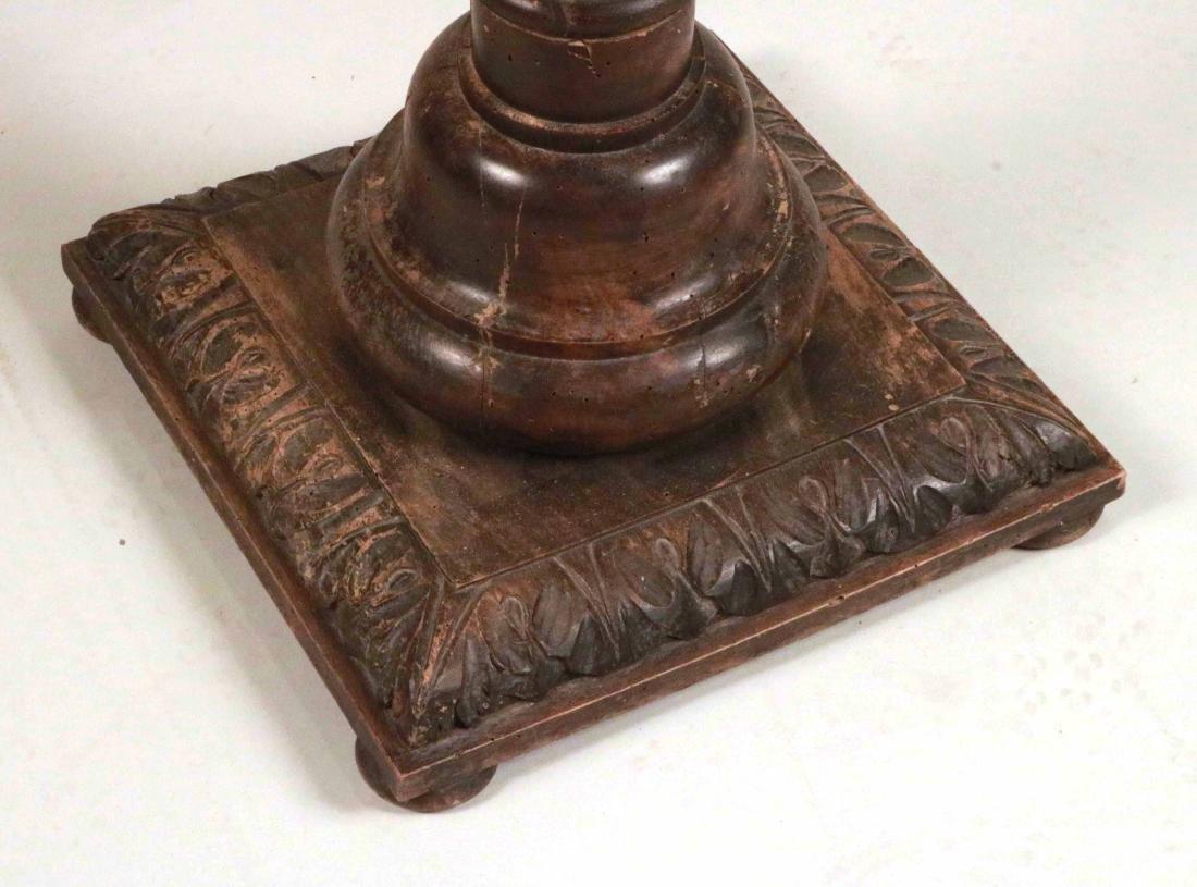 Jacobean Style Carved Columnar-Form Pedestal - 2