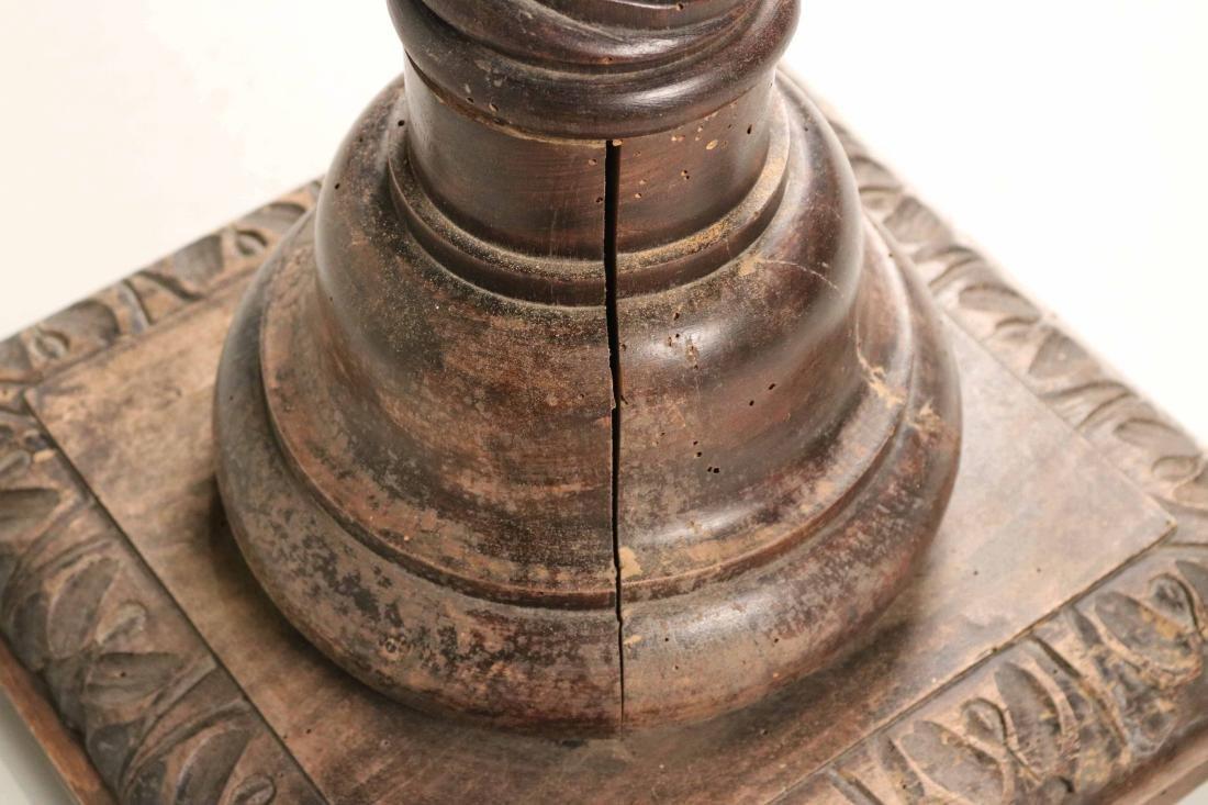 Jacobean Style Carved Columnar-Form Pedestal - 5