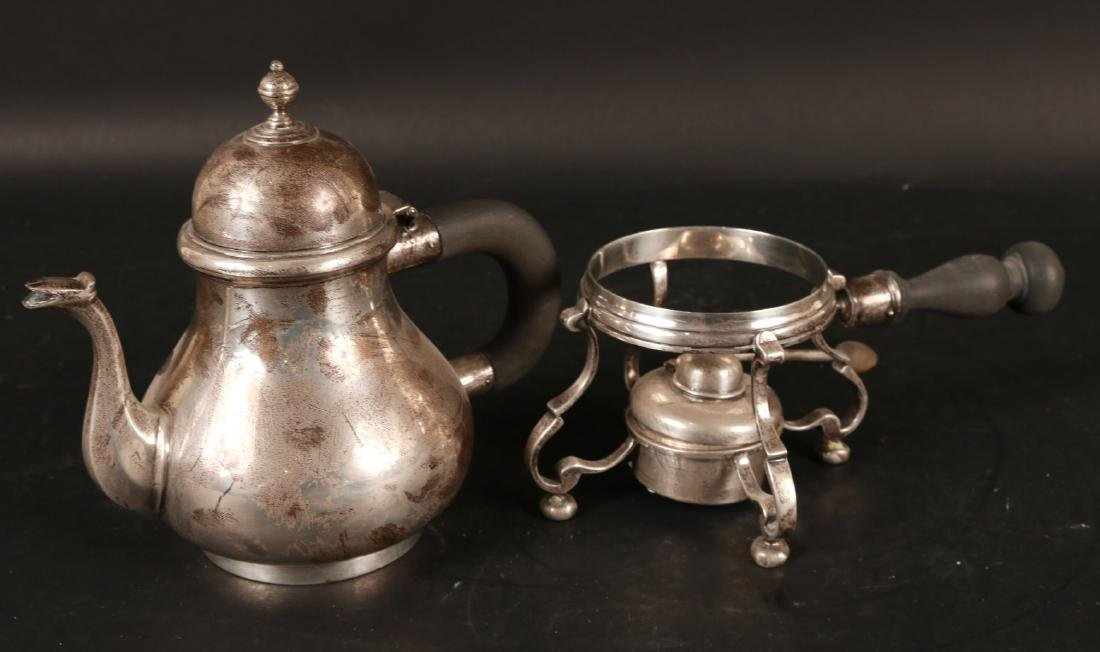J.E. Caldwell Sterling Silver Teapot on Stand. - 2