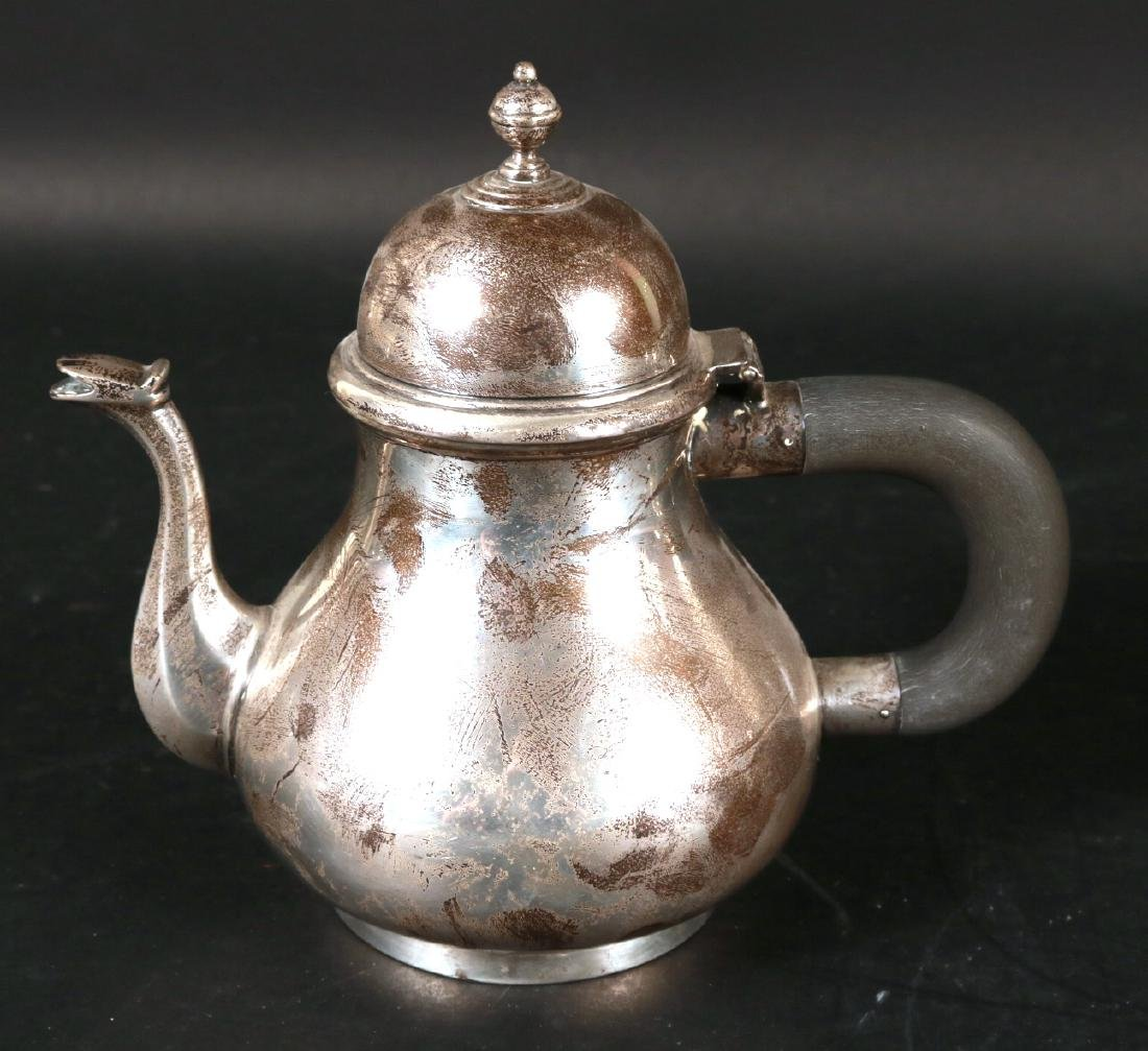 J.E. Caldwell Sterling Silver Teapot on Stand. - 3