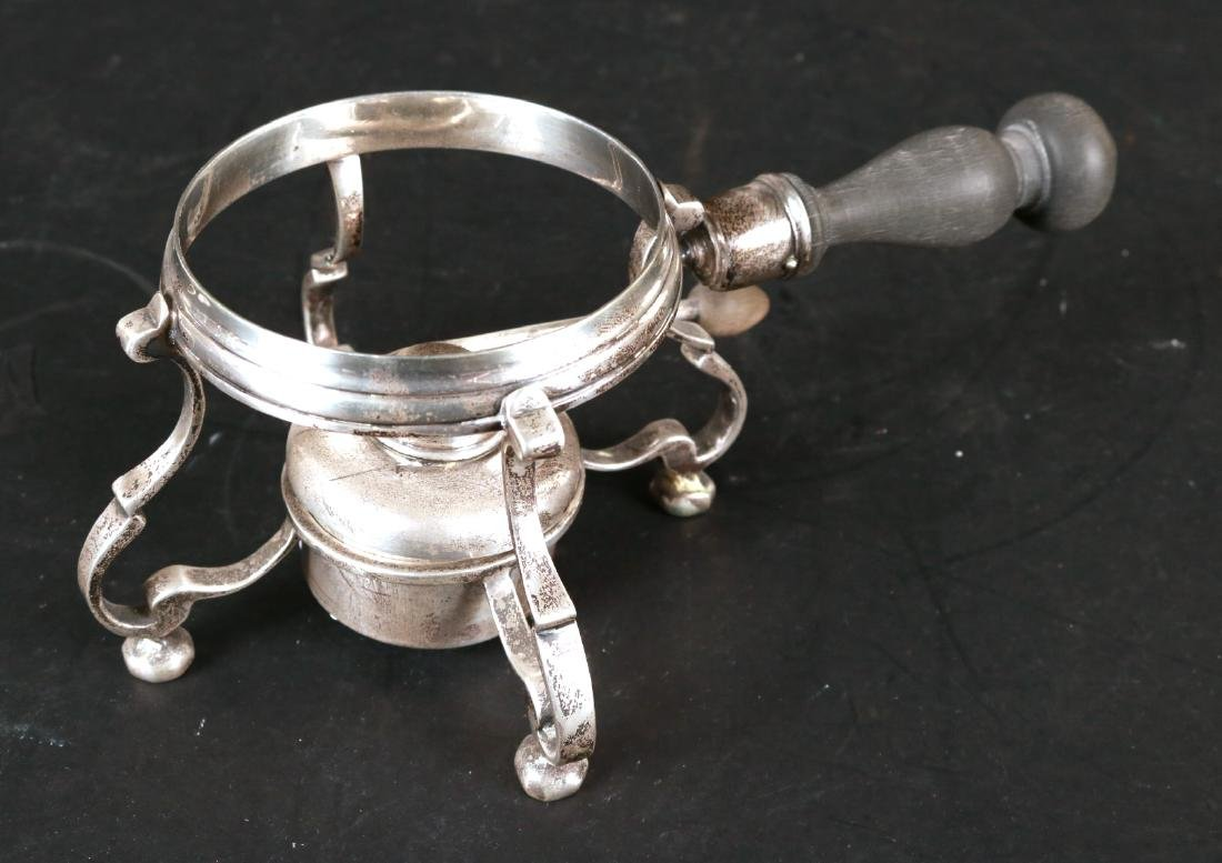 J.E. Caldwell Sterling Silver Teapot on Stand. - 6