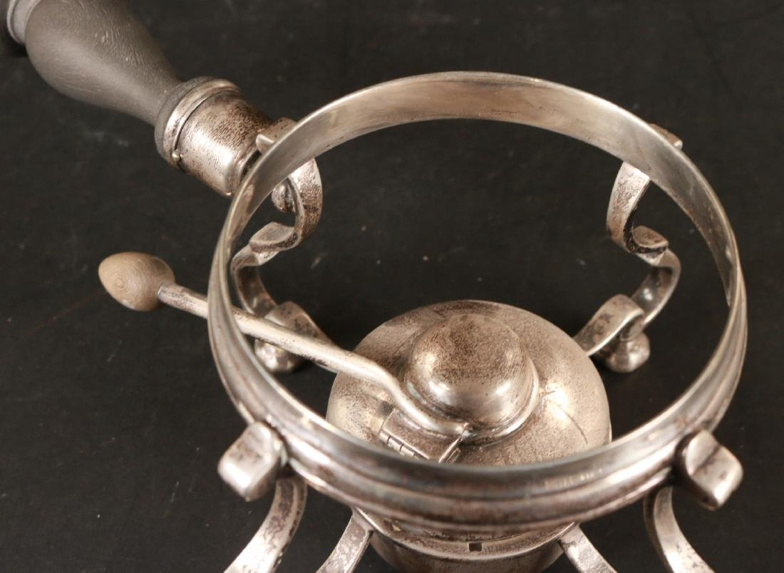 J.E. Caldwell Sterling Silver Teapot on Stand. - 7