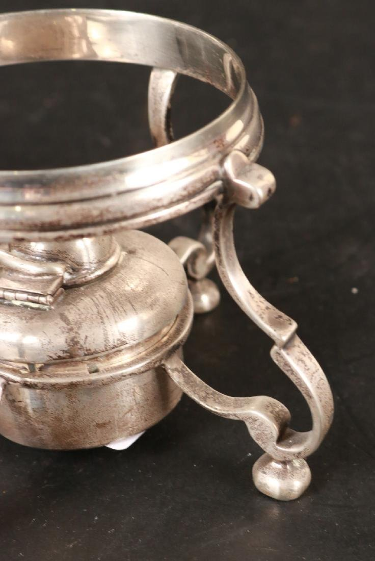 J.E. Caldwell Sterling Silver Teapot on Stand. - 8