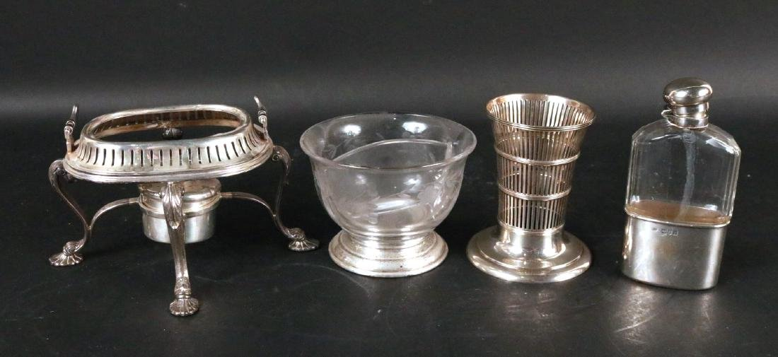Four Sterling Silver Table Items