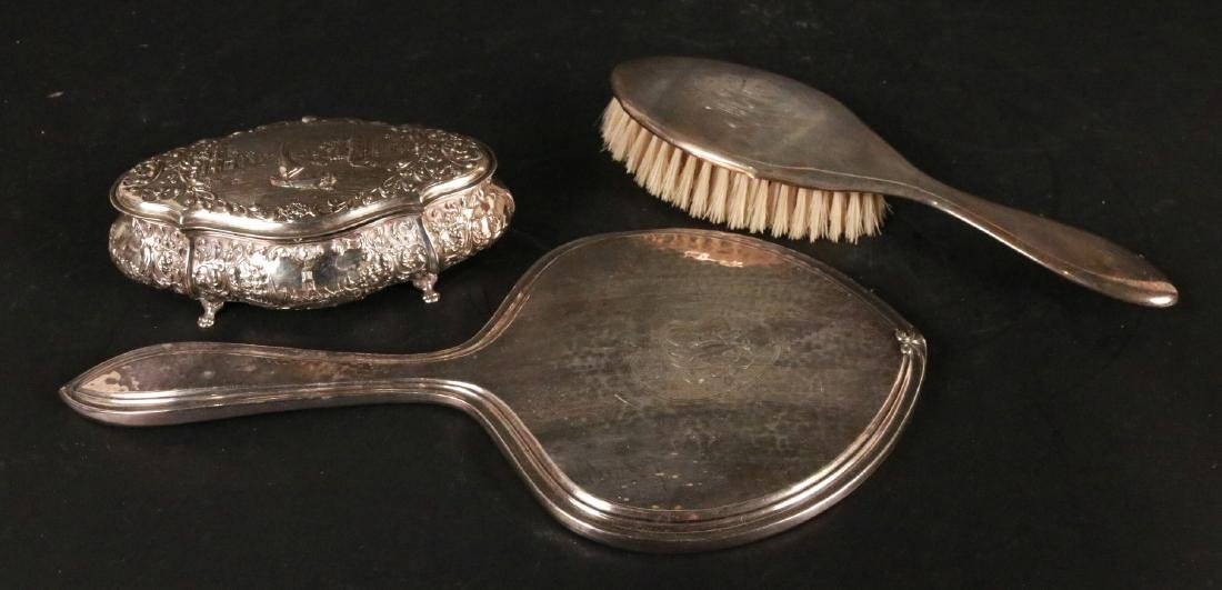Continental Silver Hinged Lidded Box