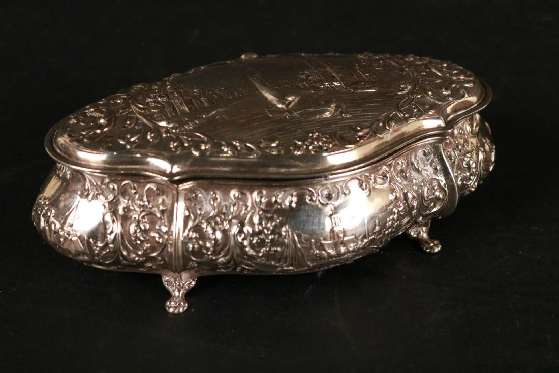 Continental Silver Hinged Lidded Box - 4