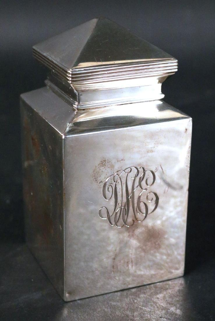 Sterling Silver Tea Caddy - 2