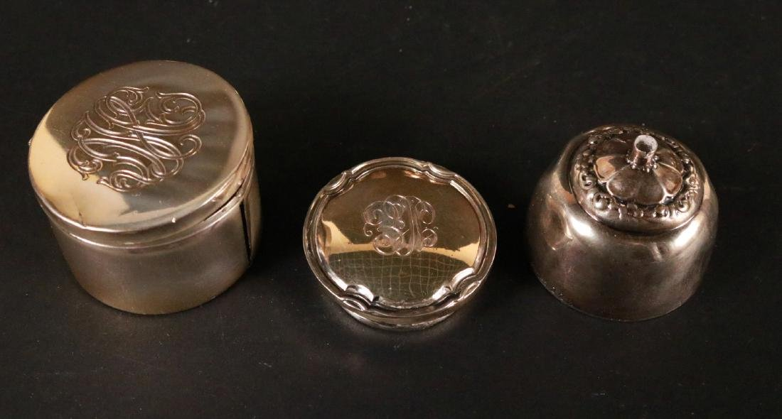 Set of Six Sterling Silver Small Salt Shakers - 4