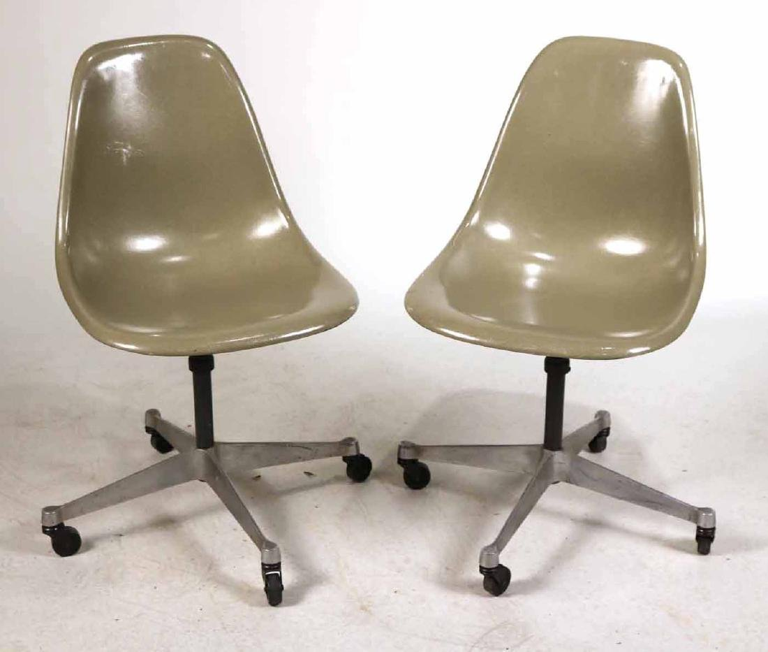 Two Herman Miller Eames Office Shell Chairs
