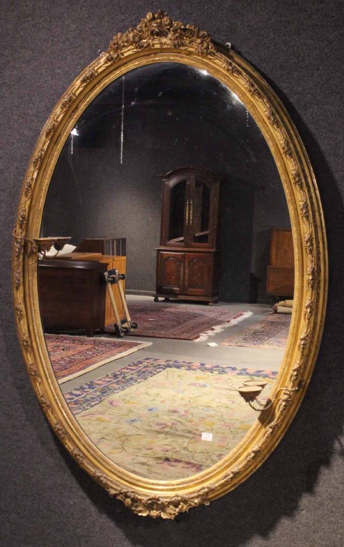 Louis XV Giltwood Oval Mirror, of Impressive Size