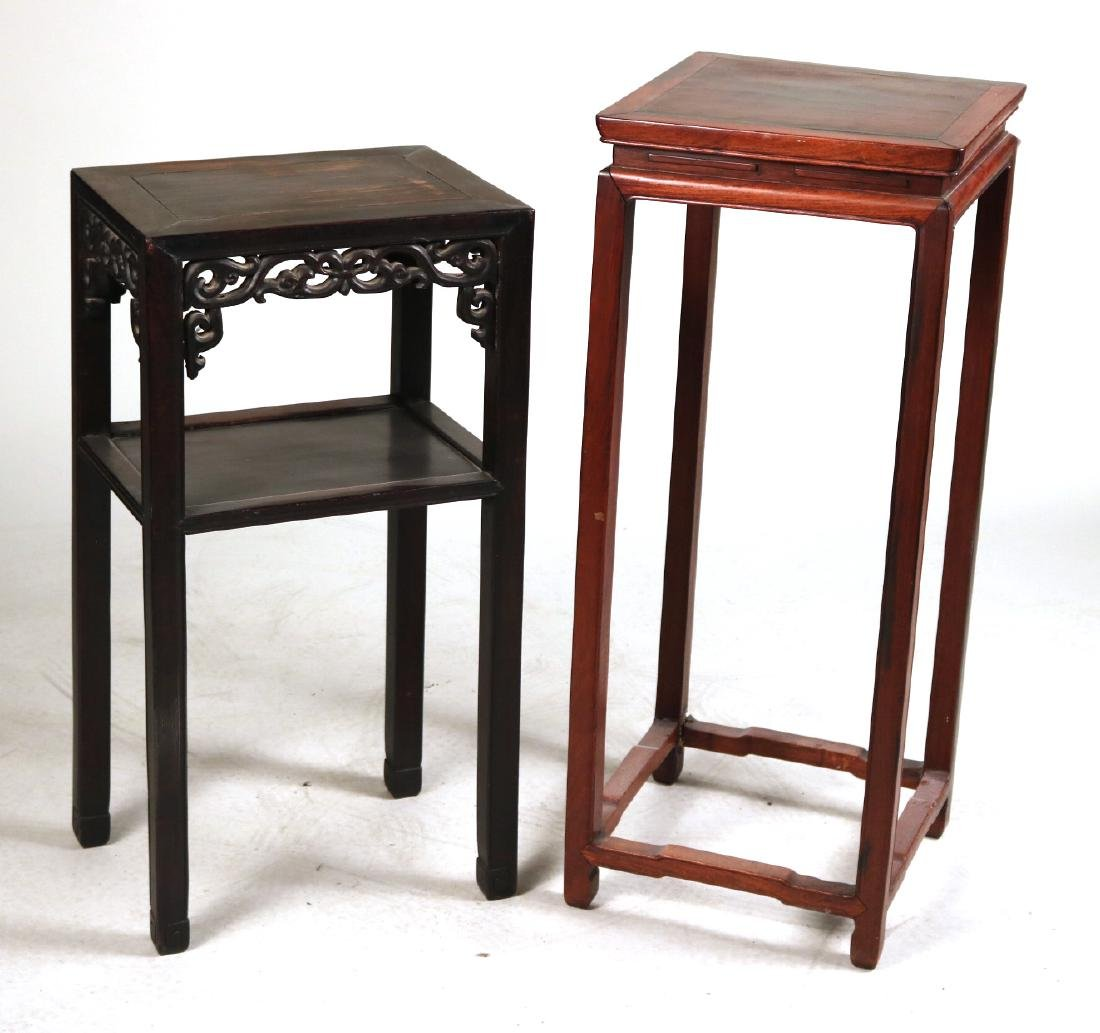 Two Chinese Hardwood Plant Stands