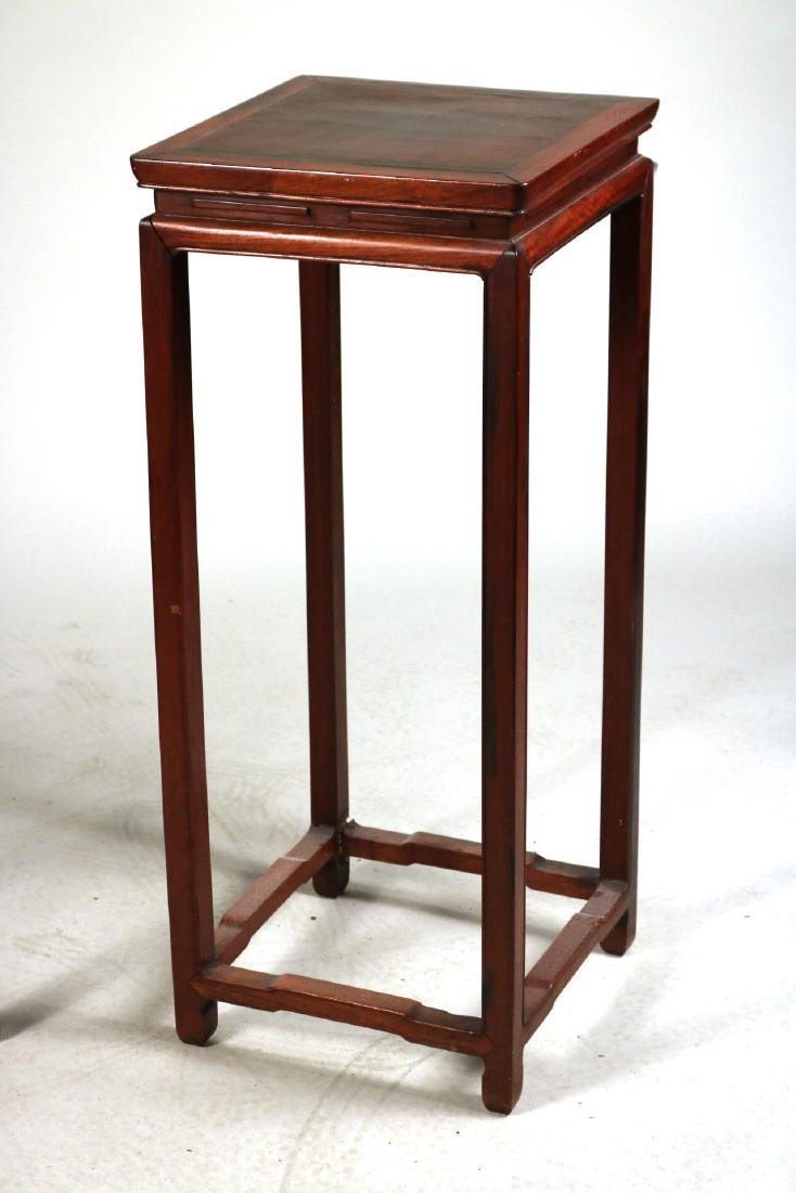 Two Chinese Hardwood Plant Stands - 2