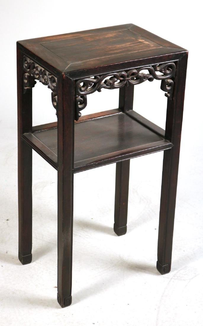 Two Chinese Hardwood Plant Stands - 5