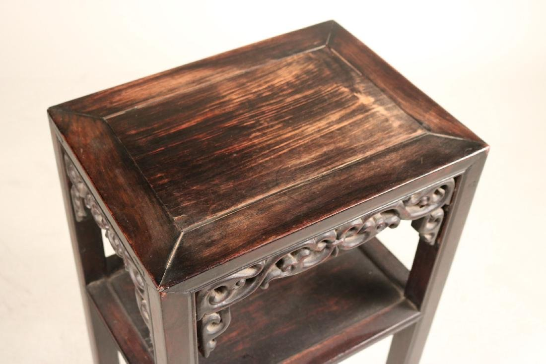Two Chinese Hardwood Plant Stands - 6