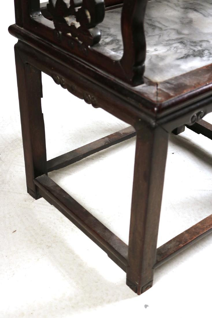 Chinese Carved Hardwood Armchair - 5