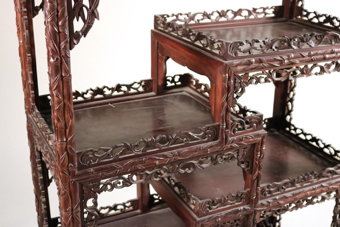 Chinese Carved Hardwood Etagere - 2
