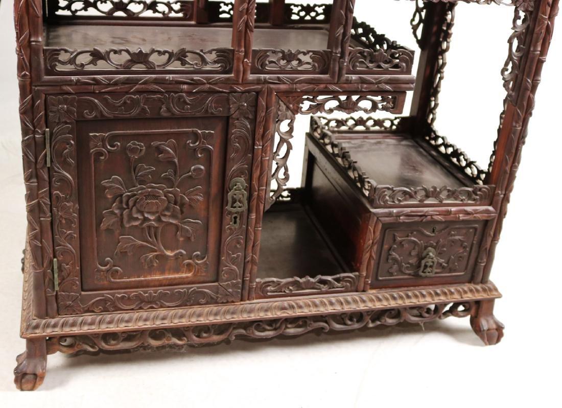 Chinese Carved Hardwood Etagere - 3