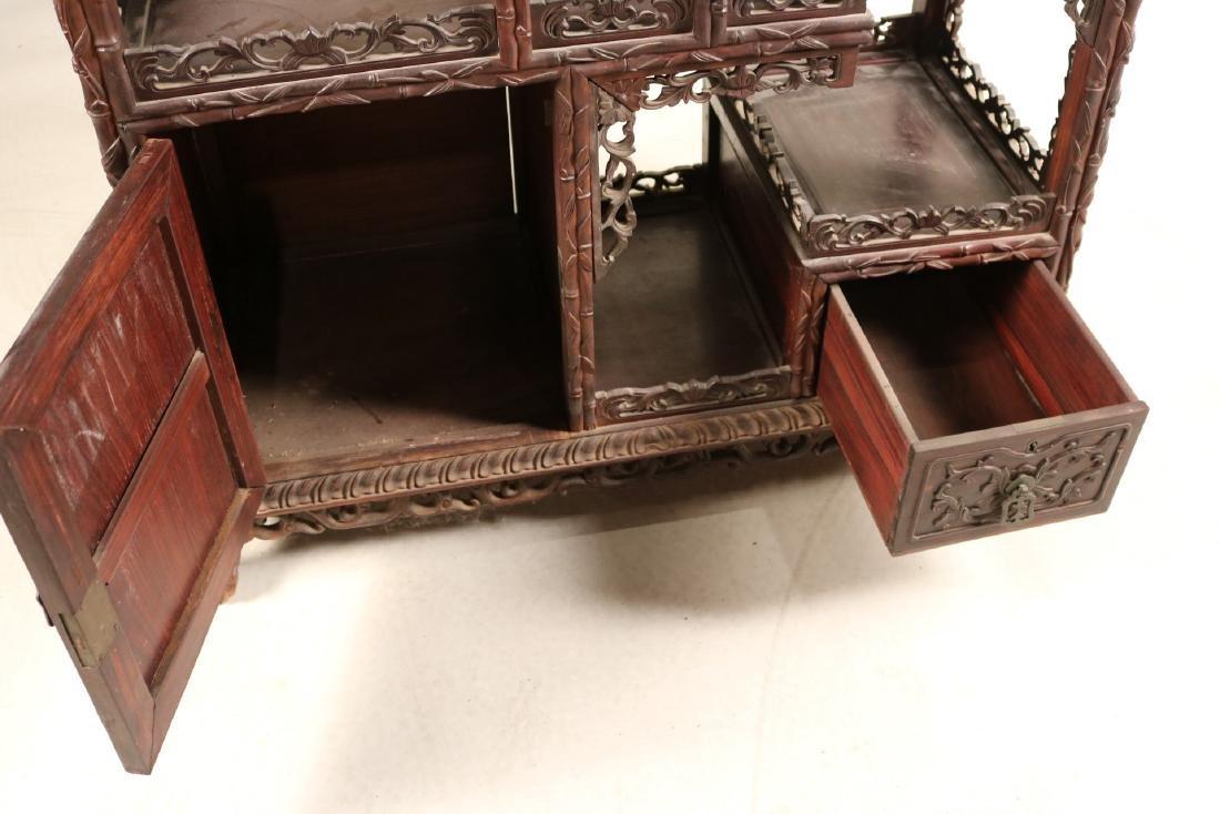 Chinese Carved Hardwood Etagere - 5