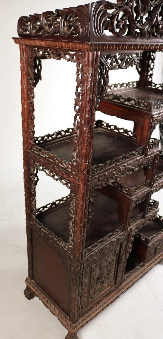 Chinese Carved Hardwood Etagere - 7