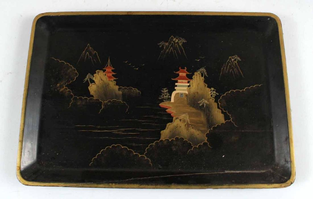 Chinese Carved Bamboo Basket and Trays - 3
