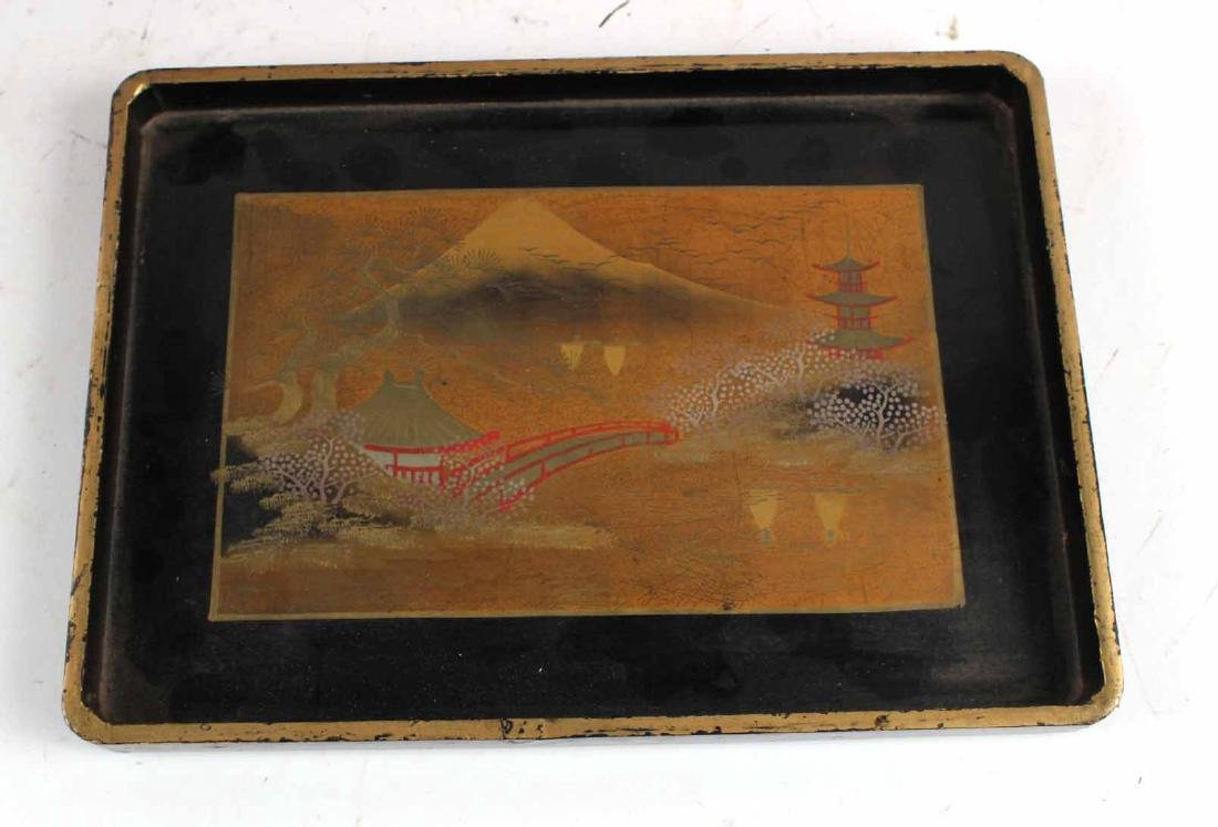 Chinese Carved Bamboo Basket and Trays - 4