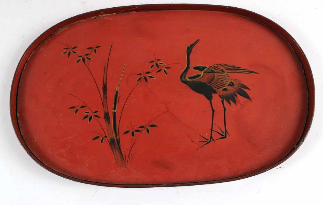 Chinese Carved Bamboo Basket and Trays - 5