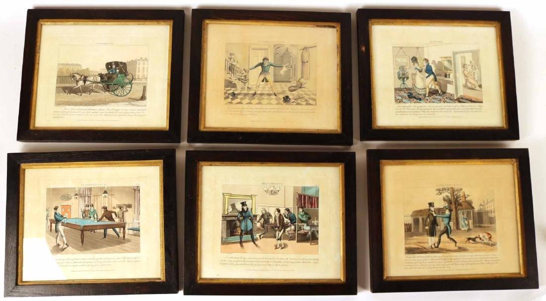 Six Hand-Colored Aquatints, Daniel Thomas Egerton