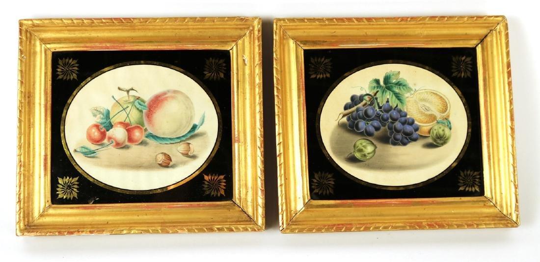Two Egloisme Framed Fruit Still Life Prints
