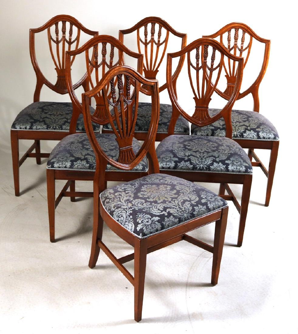 Six Federal Style Mahogany Side Chairs