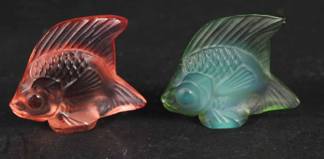 Three Crystal Colorless Lalique Articles - 4