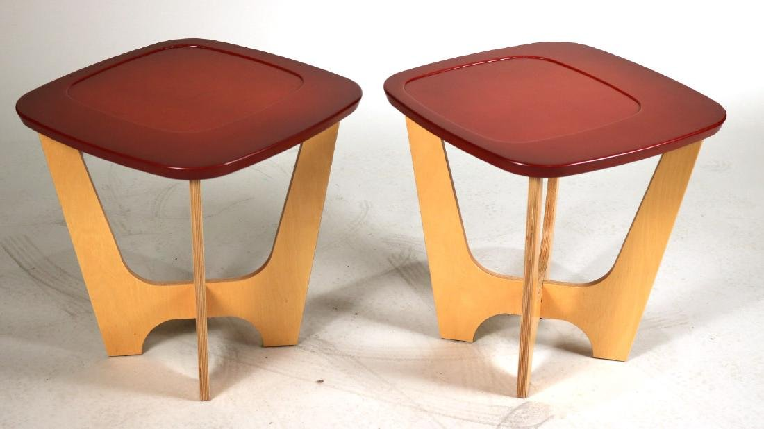 Pair of Modern Pure Design Side Tables