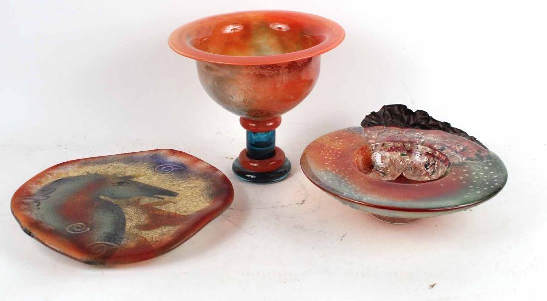 Kosta Boda Art Glass Compote