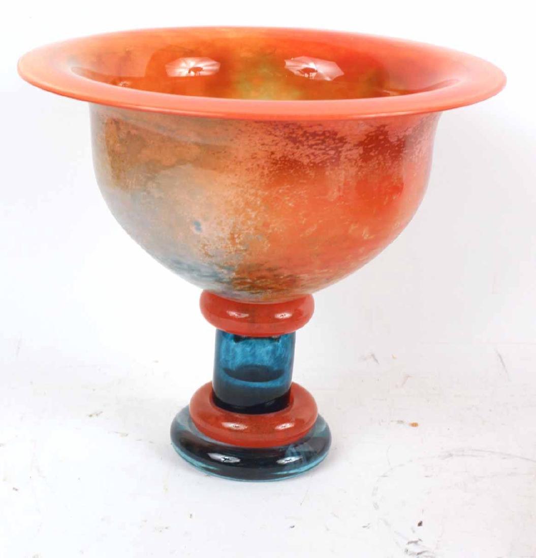 Kosta Boda Art Glass Compote - 4