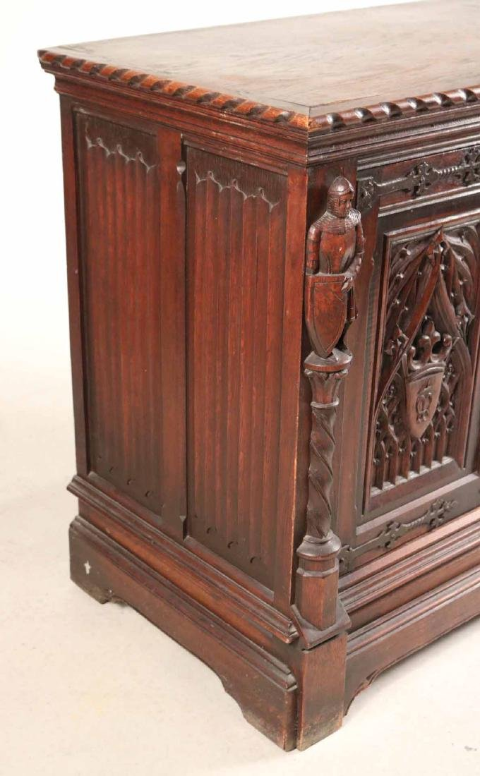 Baroque Style Carved Oak Cabinet - 2