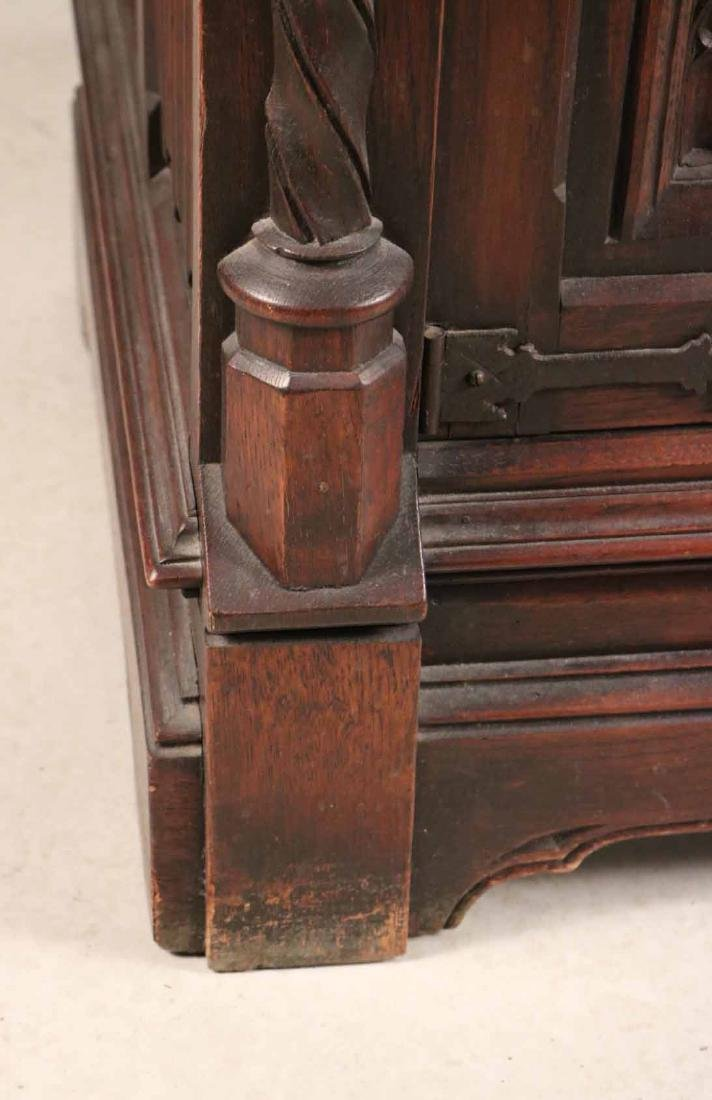 Baroque Style Carved Oak Cabinet - 4