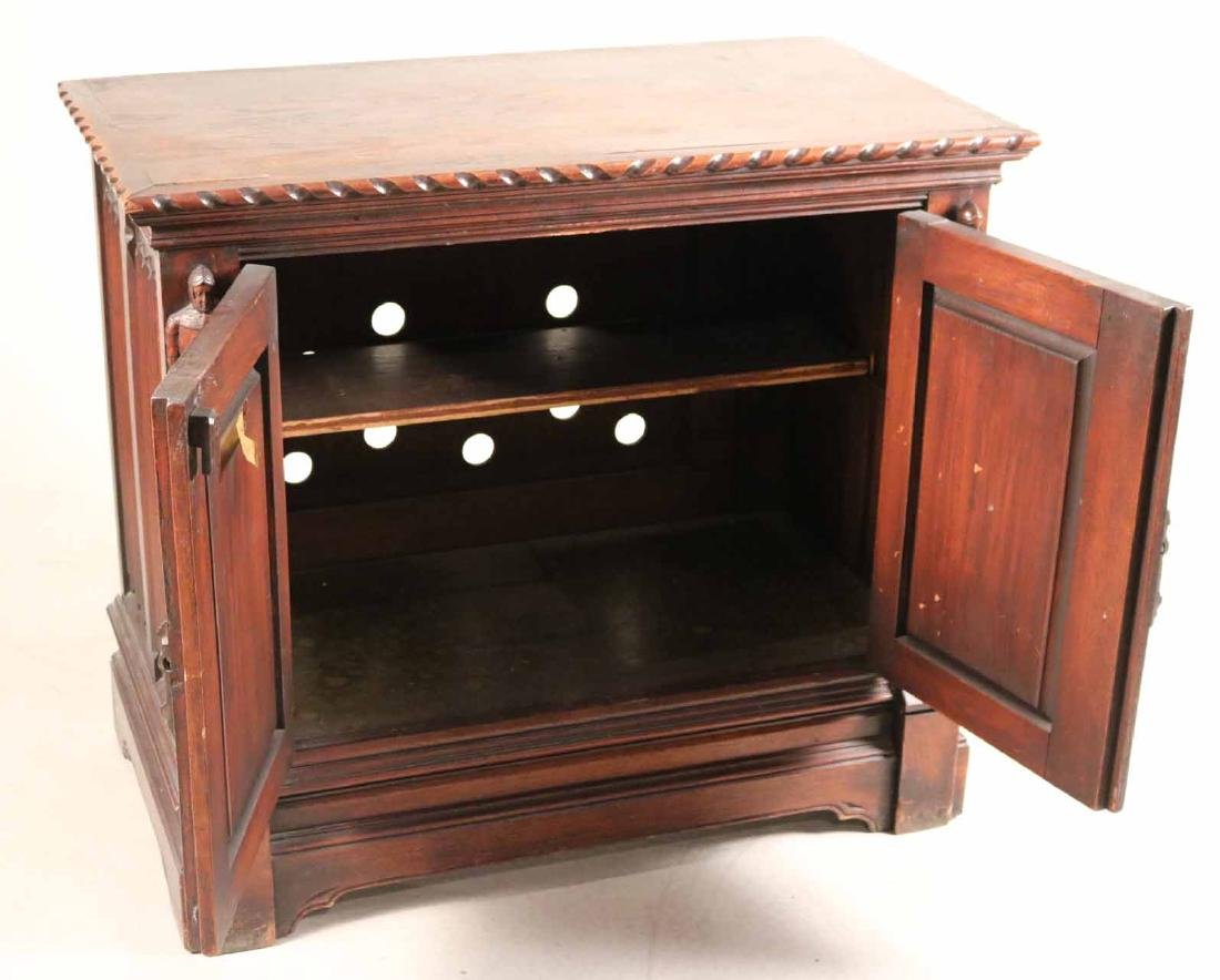 Baroque Style Carved Oak Cabinet - 6