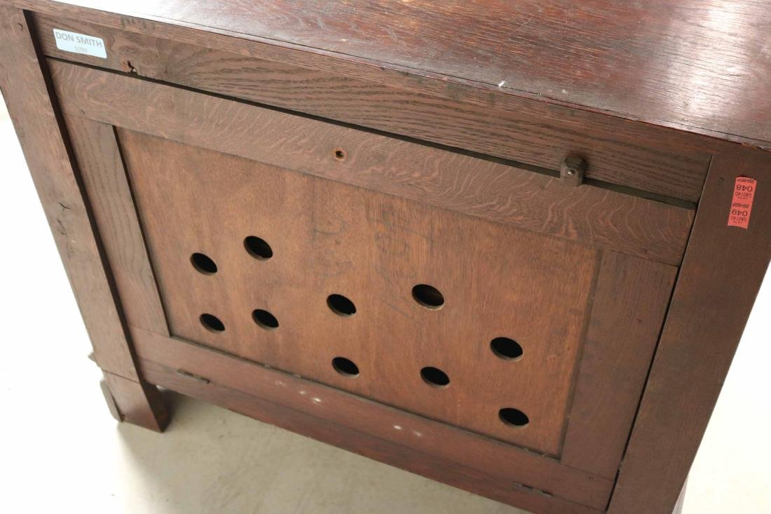 Baroque Style Carved Oak Cabinet - 8