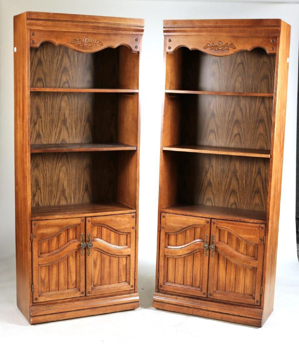 Two Modern Oak Bookcases