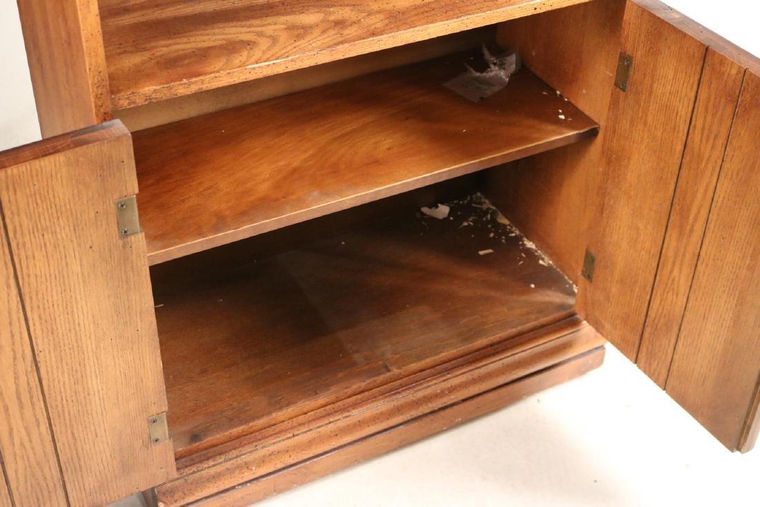 Two Modern Oak Bookcases - 6